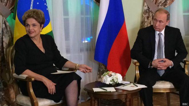 Em crise, Dilma e Putin priorizam economia e deixam política de lado em reunião